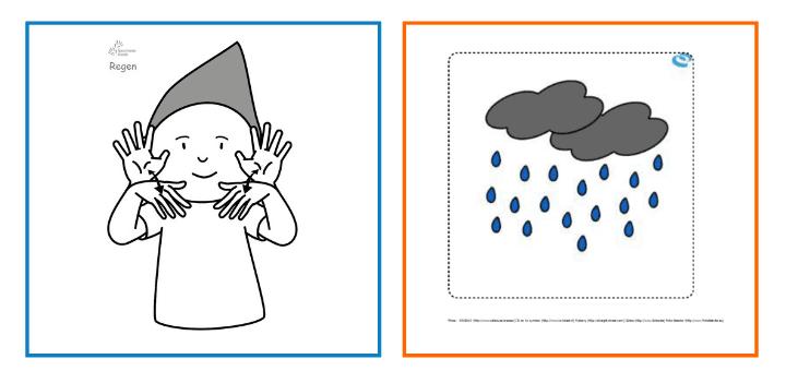 Babyzeichen-Babygebärden-Kindergebärden-Regen
