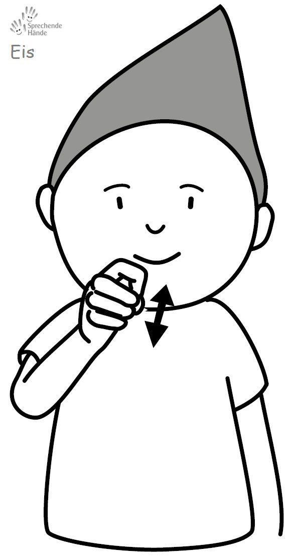 Eis Babyzeichensprache Babygebärden Kindergebärden