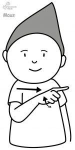 Maus Babyzeichensprache Babygebärden Kindergebärden