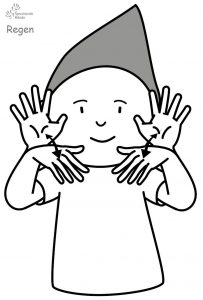 Regen Babyzeichensprache Babygebärden Kindergebärden