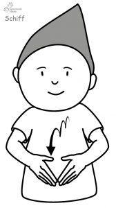 Schiff Babyzeichensprache Babygebärden Kindergebärden