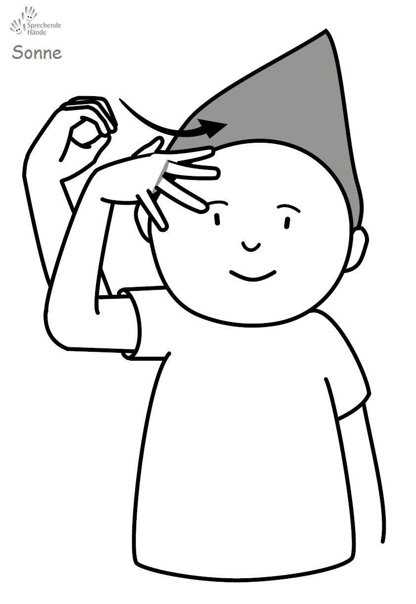 Sonne Babyzeichensprache Babygebärden Kindergebärden