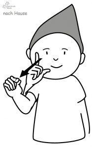 nach Haus Babyzeichensprache Babygebärden Kindergebärden