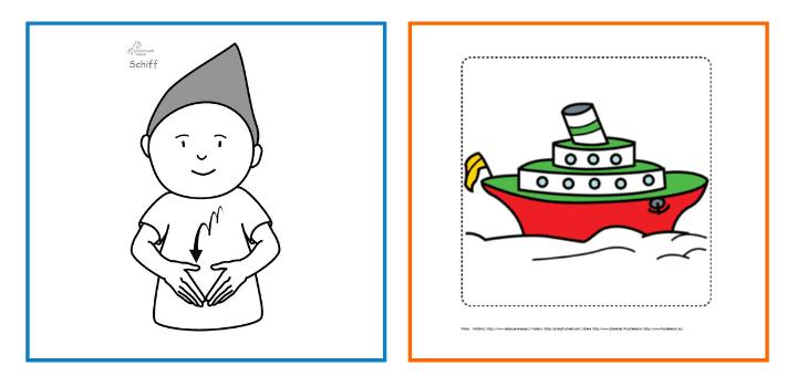 Babyzeichensprache-Babygebärden-Kindergebärden-Schiff