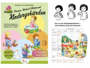 Frühling Sommer Herbst dun Winter Buch Babyzeichensprache Babygebärden Kindergebärden Babyzeichen